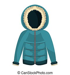winter jacket clothes isolated icon vector illustration...