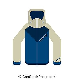 Winter jacket clothes isolated vector illustration graphic...
