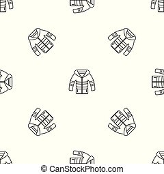 Winter jacket pattern seamless vector repeat geometric for...