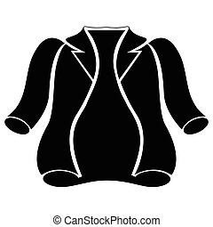 Winter jacket silhouette - Silhouette of a winter jacket,...