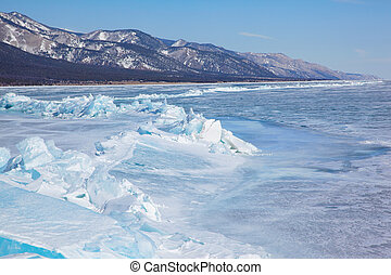 Winter lake Baikal