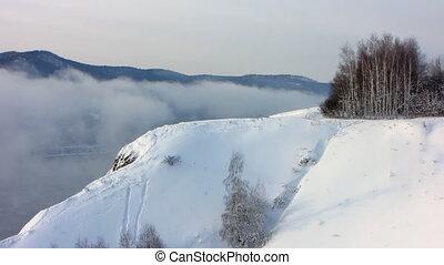 Winter landscape 10 - Winter landscape. A fog. Trees in...