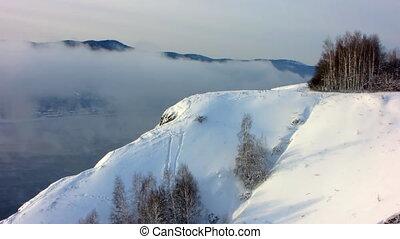 Winter landscape 9 - Winter landscape. A fog.