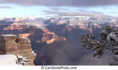 Winter Landscape at Grand Canyon - a snow covered grand...