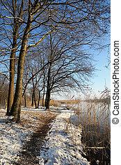 Winter landscape at Havel River.