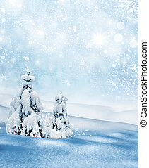 Winter landscape. Background