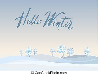 Winter landscape background.