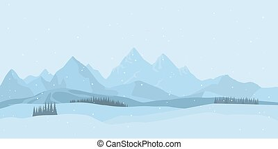 Winter landscape background. vector