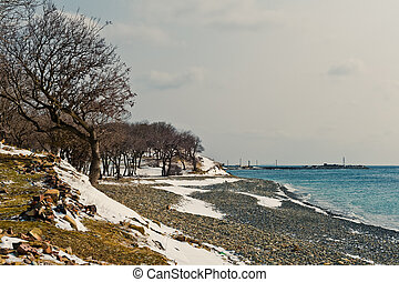 Winter landscape, Black sea