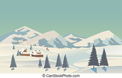 Winter landscape concept