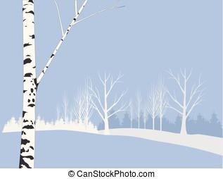 Winter landscape - Illustration