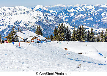 Winter landscape in Alps - Landscape photo of snowy ...