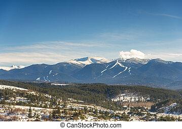 Winter landscape in Bulgaria.