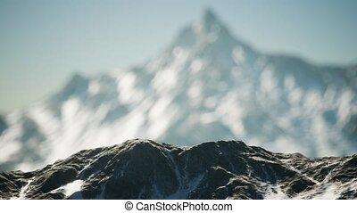 Winter Landscape in Mountains - winter landscape in the Alps...
