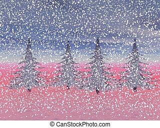 christmas and firetrees