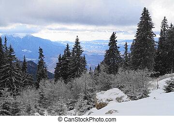Winter landscape in Romania