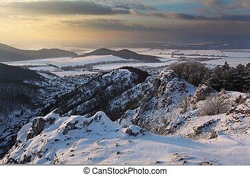 Winter landscape in Slovakia