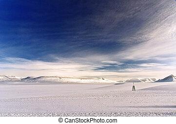 Winter landscape in the Arctic - Winter landscape in the...