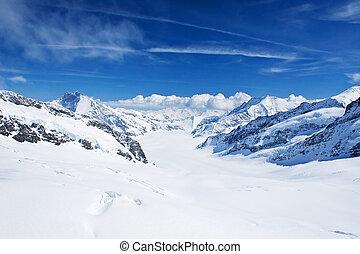 Jungfrau region - Winter landscape in the Jungfrau region