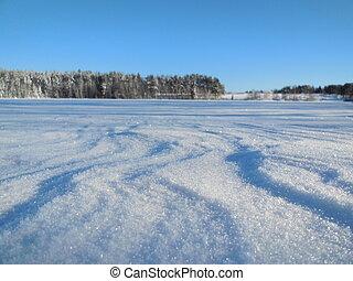 Winter landscape in the Karelia