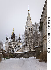 Winter landscape in the village of Vyatskoye