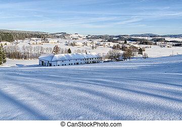 Winter Landscape in Upper Austria