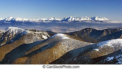 Winter landscape mountain - panorama