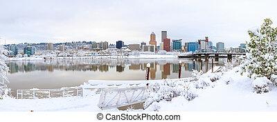 Winter Landscape of Portland Oregon