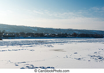 winter landscape of the Dniester River
