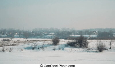 Winter landscape panorama