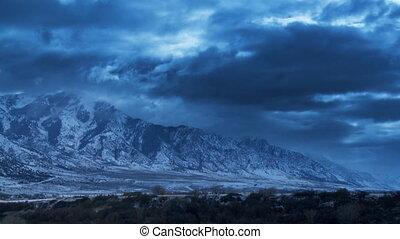 Winter Landscape - Snow covered landscape under rolling...
