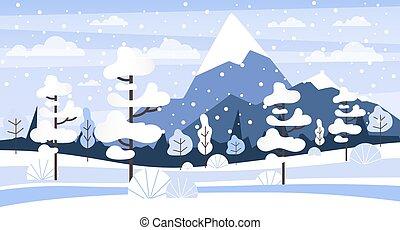 Winter landscape. Snow on the tree, beauty