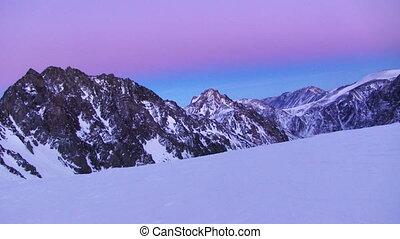 Winter landscape - Winter mountain landscape