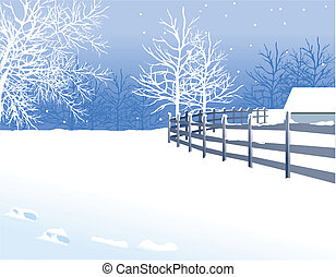 Winter landscape - this illustration is the general nature...