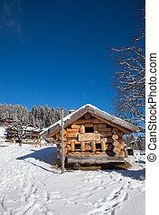 Winter landscape - Typical swiss winter season landscape. ...