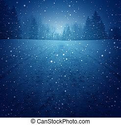 Winter Landscape - Winter landscape concept as a snowing ...