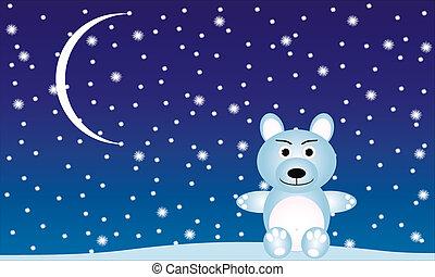 Winter Landscape with a polar bear