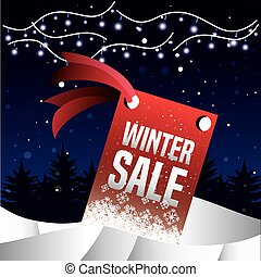 winter landscape with christmas sale