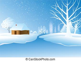 h tte winter schneelandschaft weihnachten winter. Black Bedroom Furniture Sets. Home Design Ideas