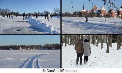 winter leisure collage