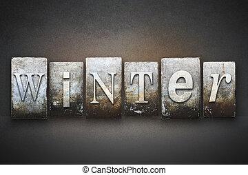 Winter Letterpress