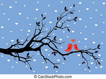 winter, liefde