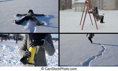 winter love collage