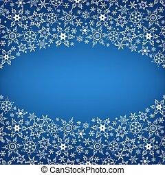 Winter luxury stylish frame with snowflakes - Beautiful...