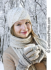 winter, m�dchen