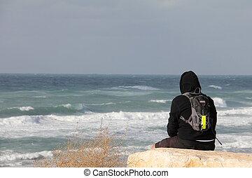 Winter Mediterranean sea
