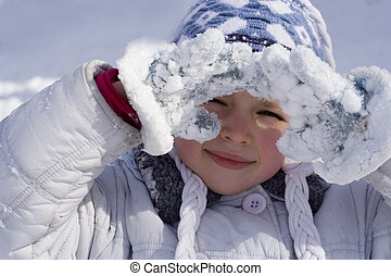 winter, meisje