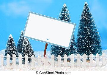 winter, meldingsbord