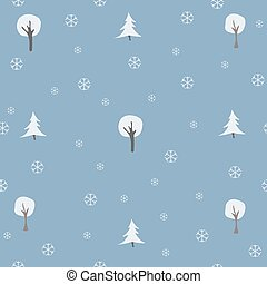 Winter, Merry Christmas seamless pattern.