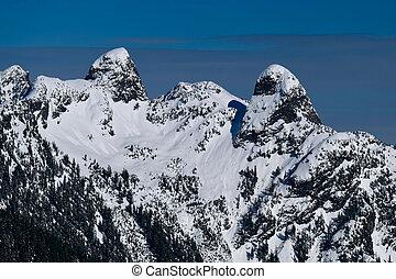 winter., montagne